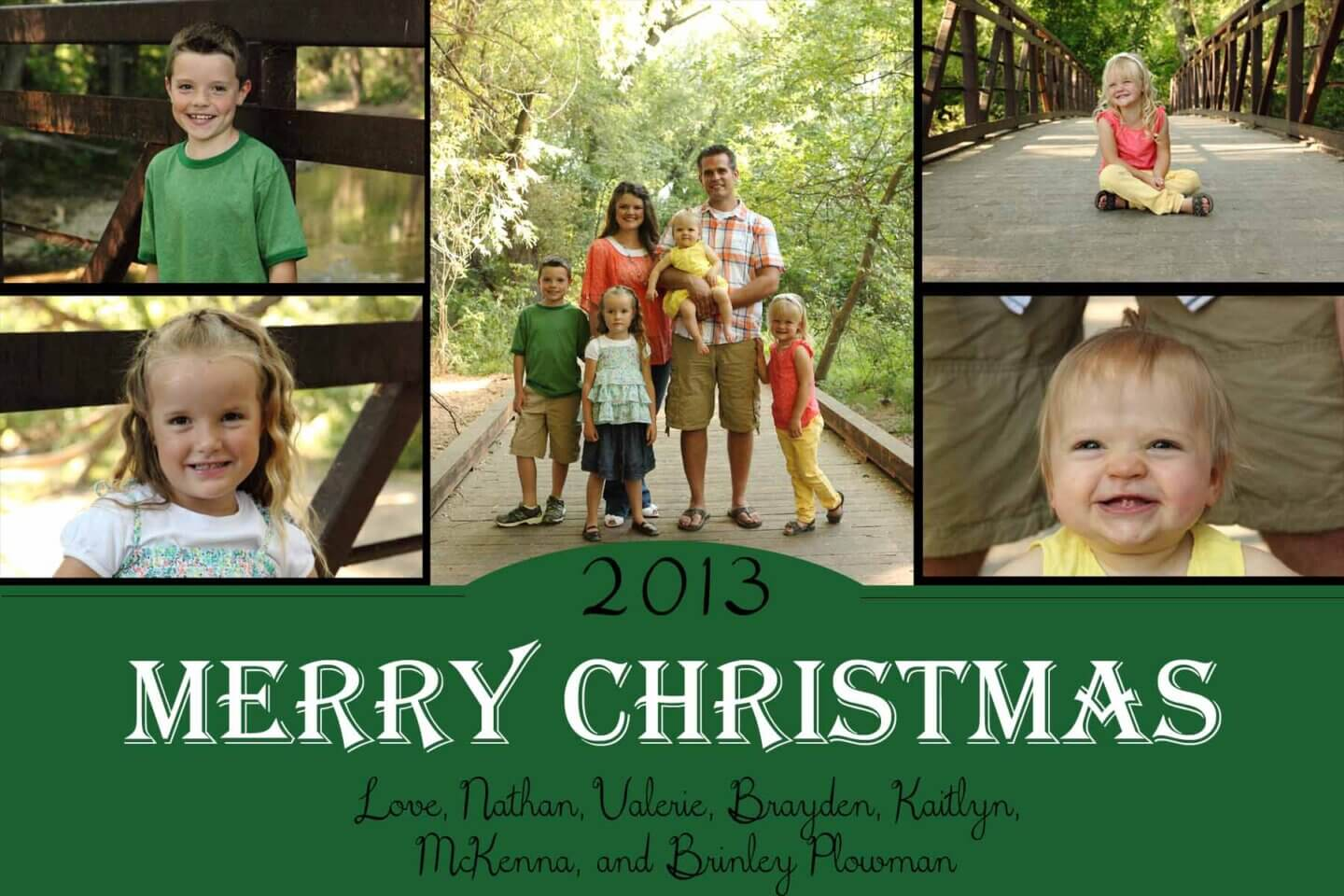 2013 Plowman Family Christmas Card