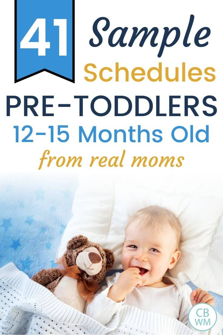 41 sample schedules for pre-toddlers Pinnable Image