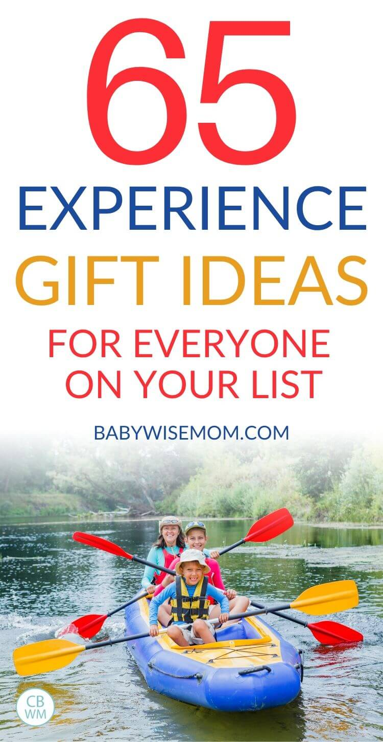 Experience gifts for everyone on your list Pinnable image