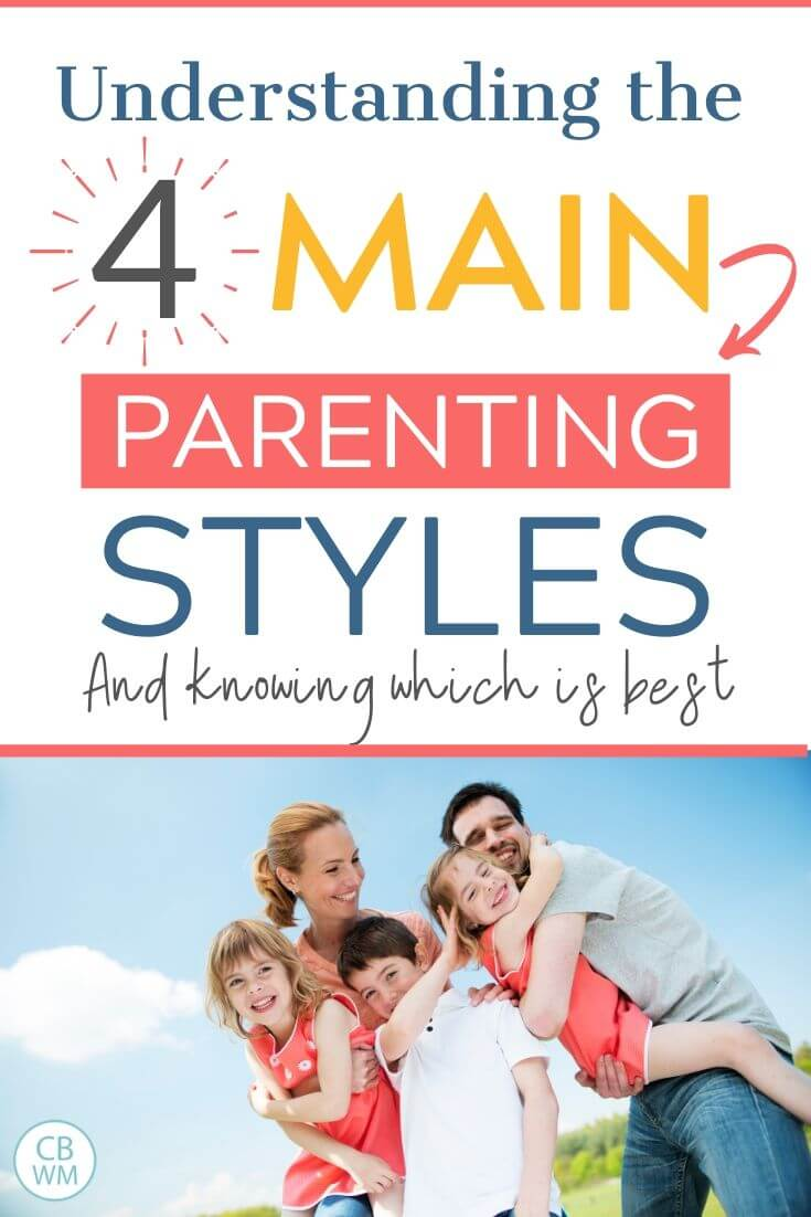 4 main parenting styles pinnable image