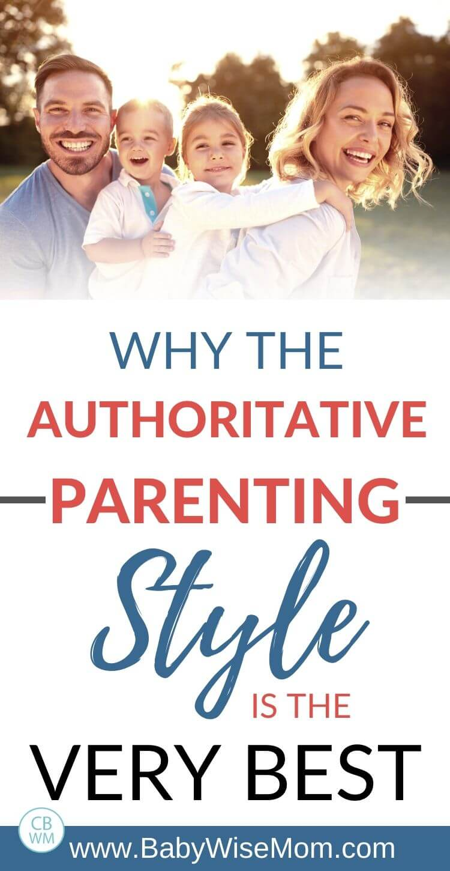 Authoritative parenting style pinnable image