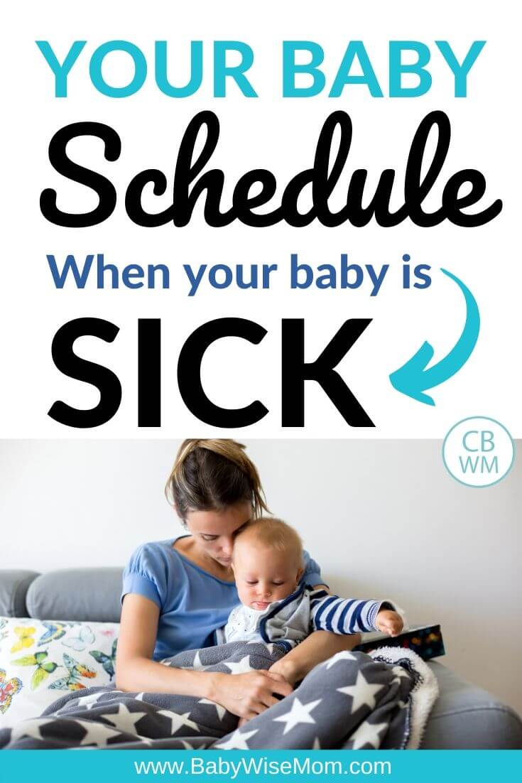 Your baby schedule when your baby is sick pinnable image