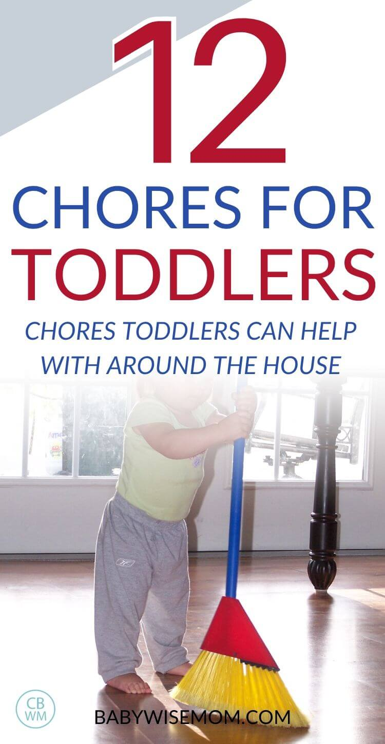 12 chore for toddlers Pinnable Image