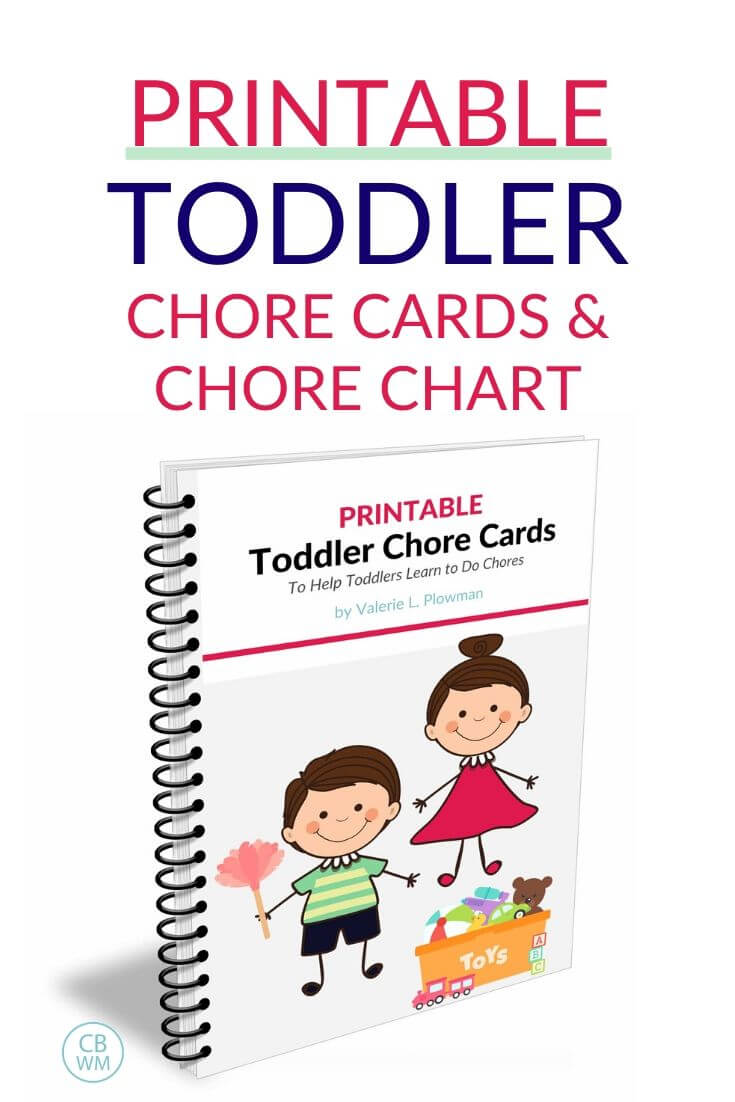 Printable toddler chore cards pinnable image