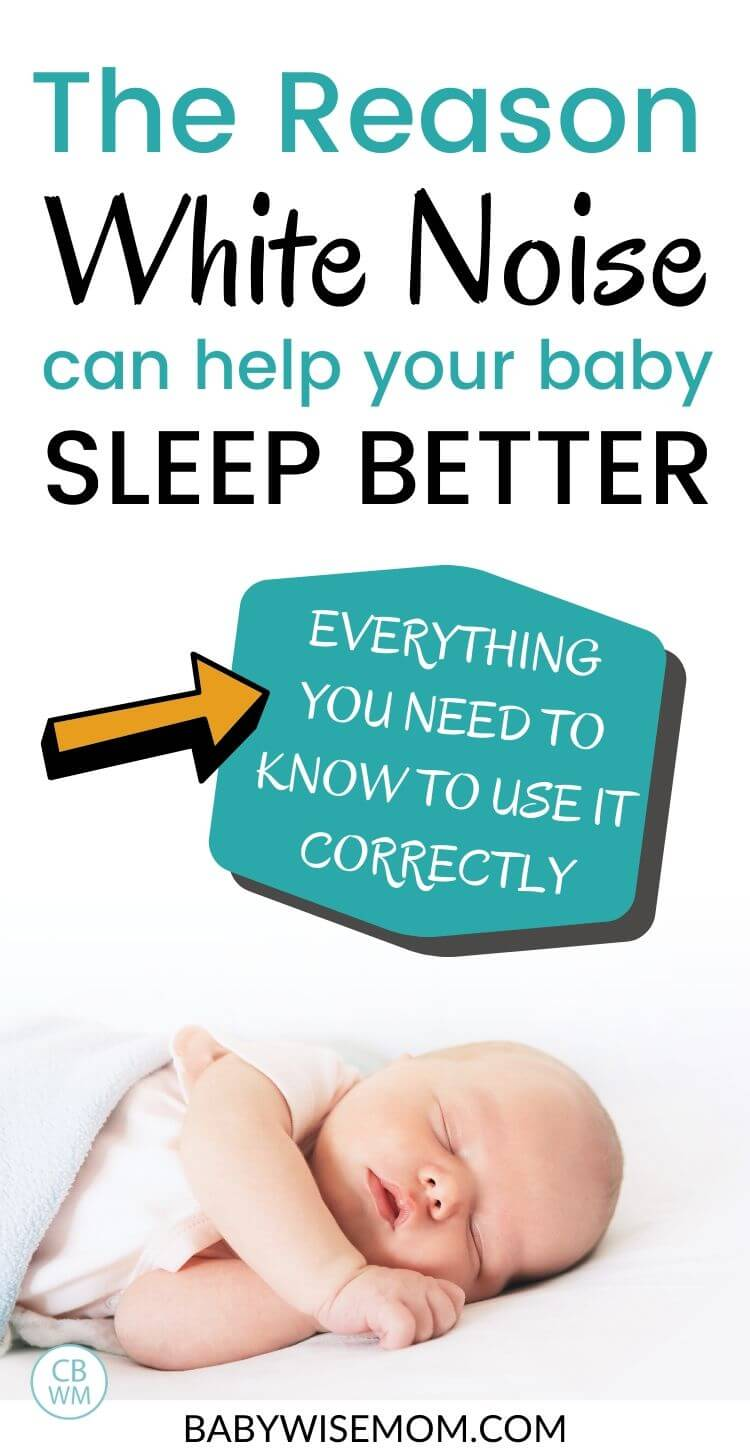 The reason white noise can help your baby sleep better pinnable image