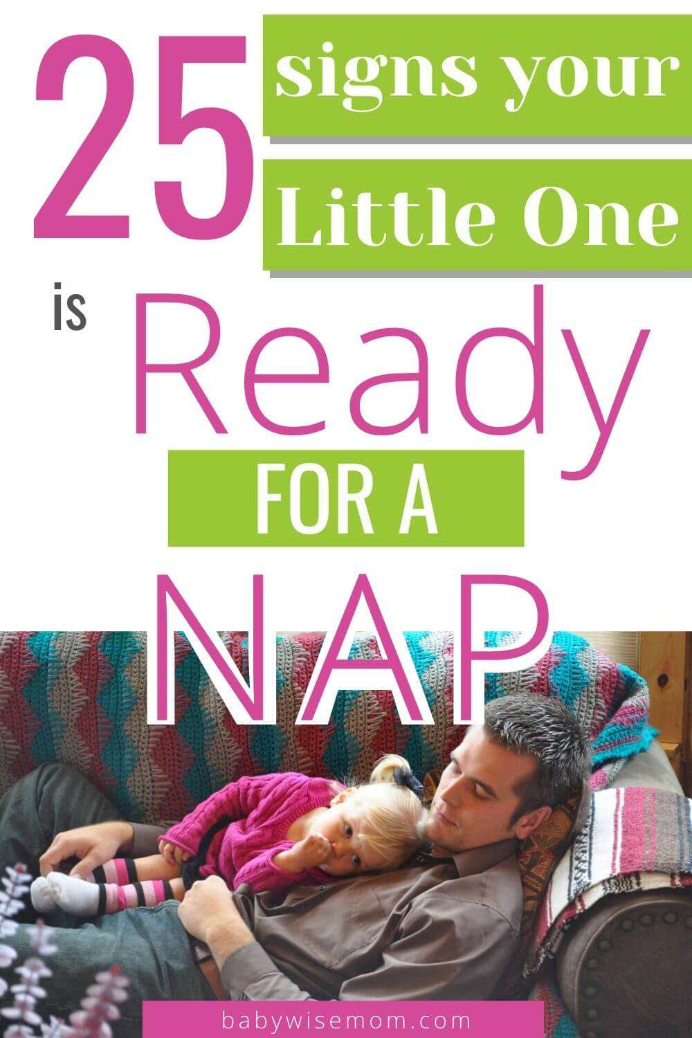 25 signs your little one is ready for a nap pinnable image