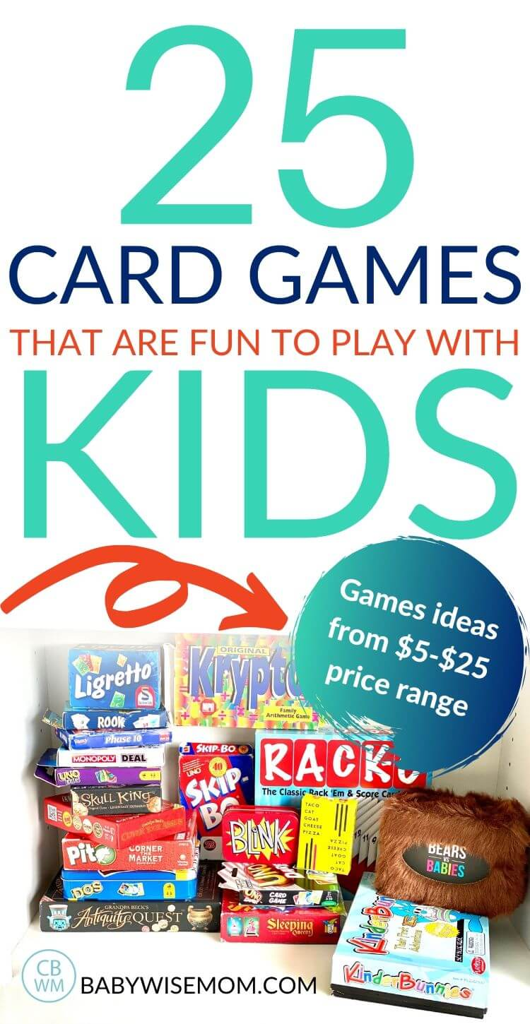25 card games for kids