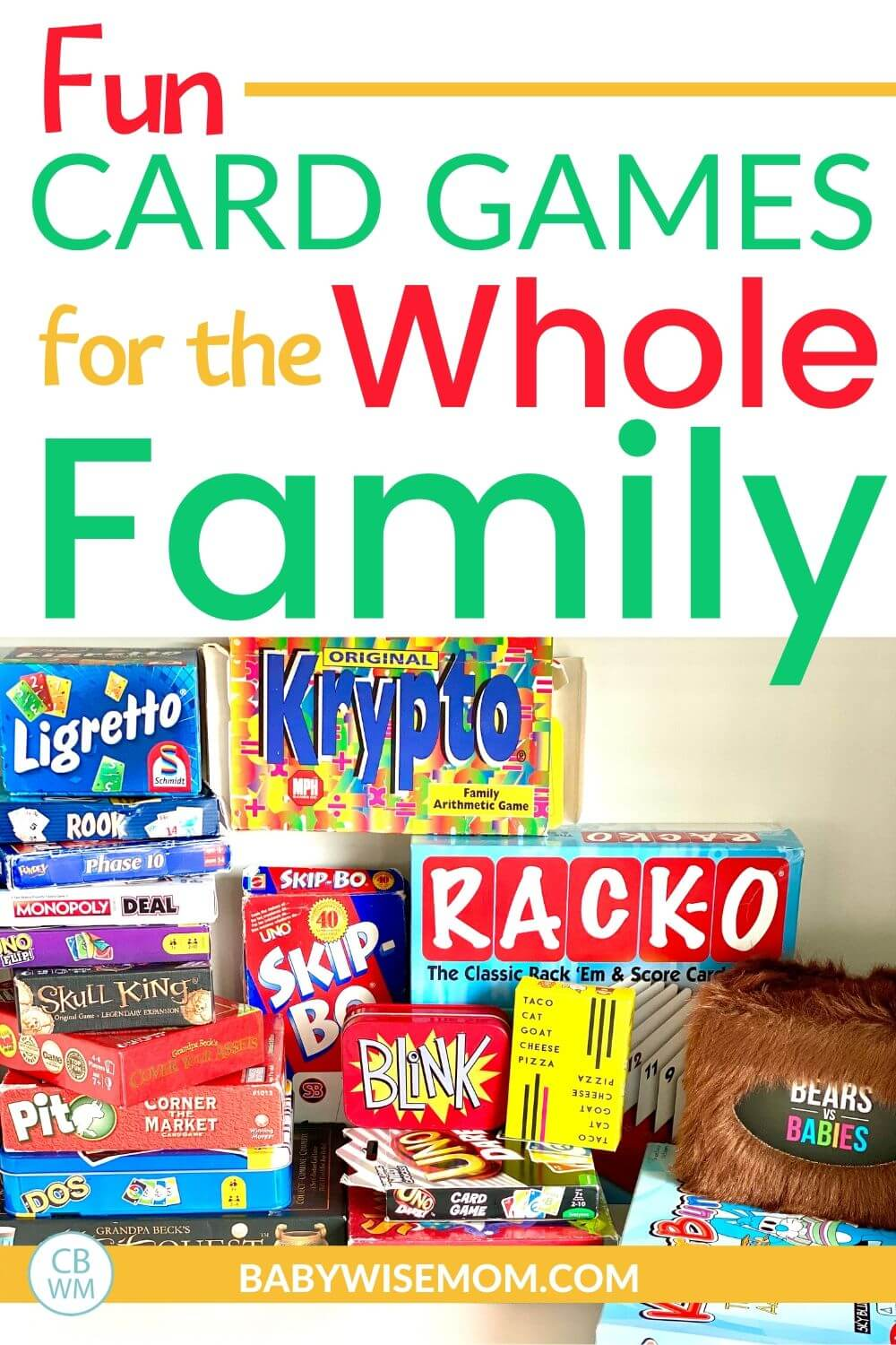 Card games for the whole family