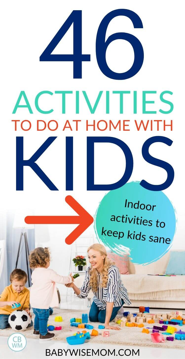 Activities to do at home with kids pinnable image