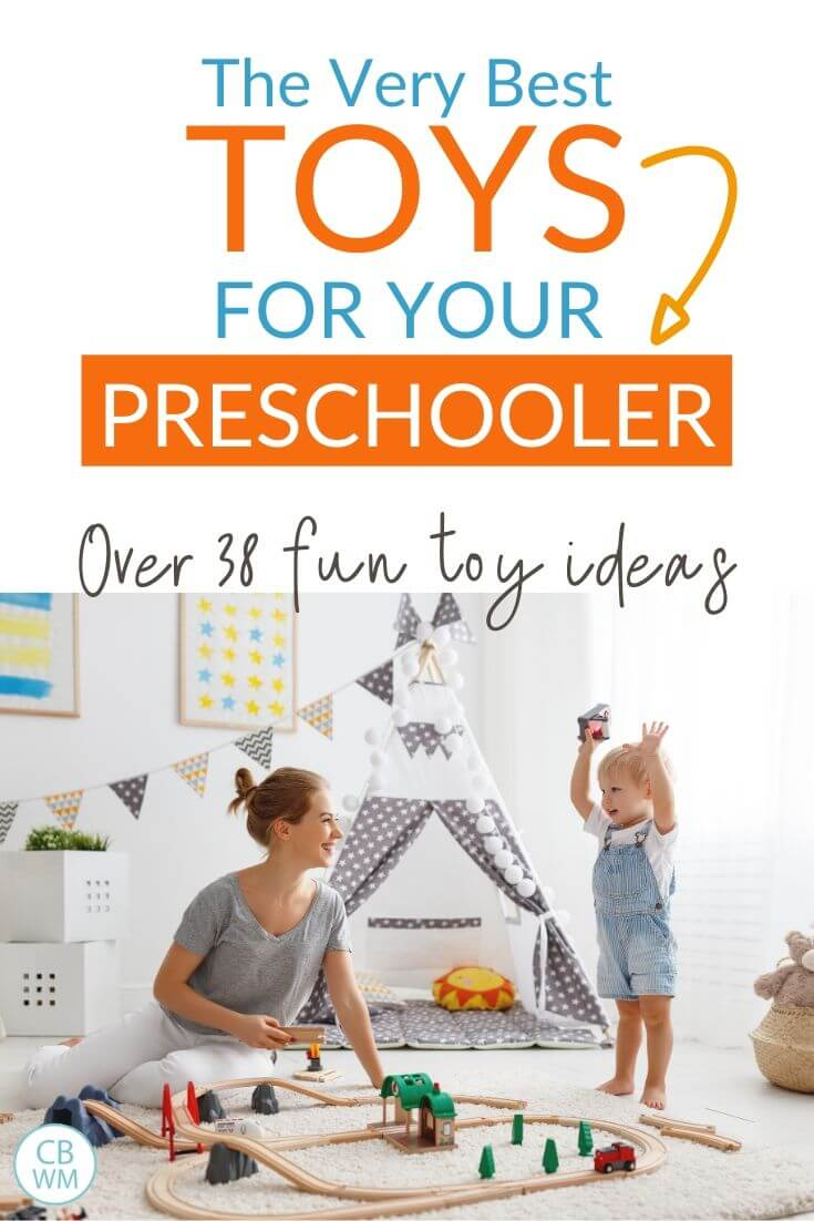 Great toys for your preschooler pinnable image
