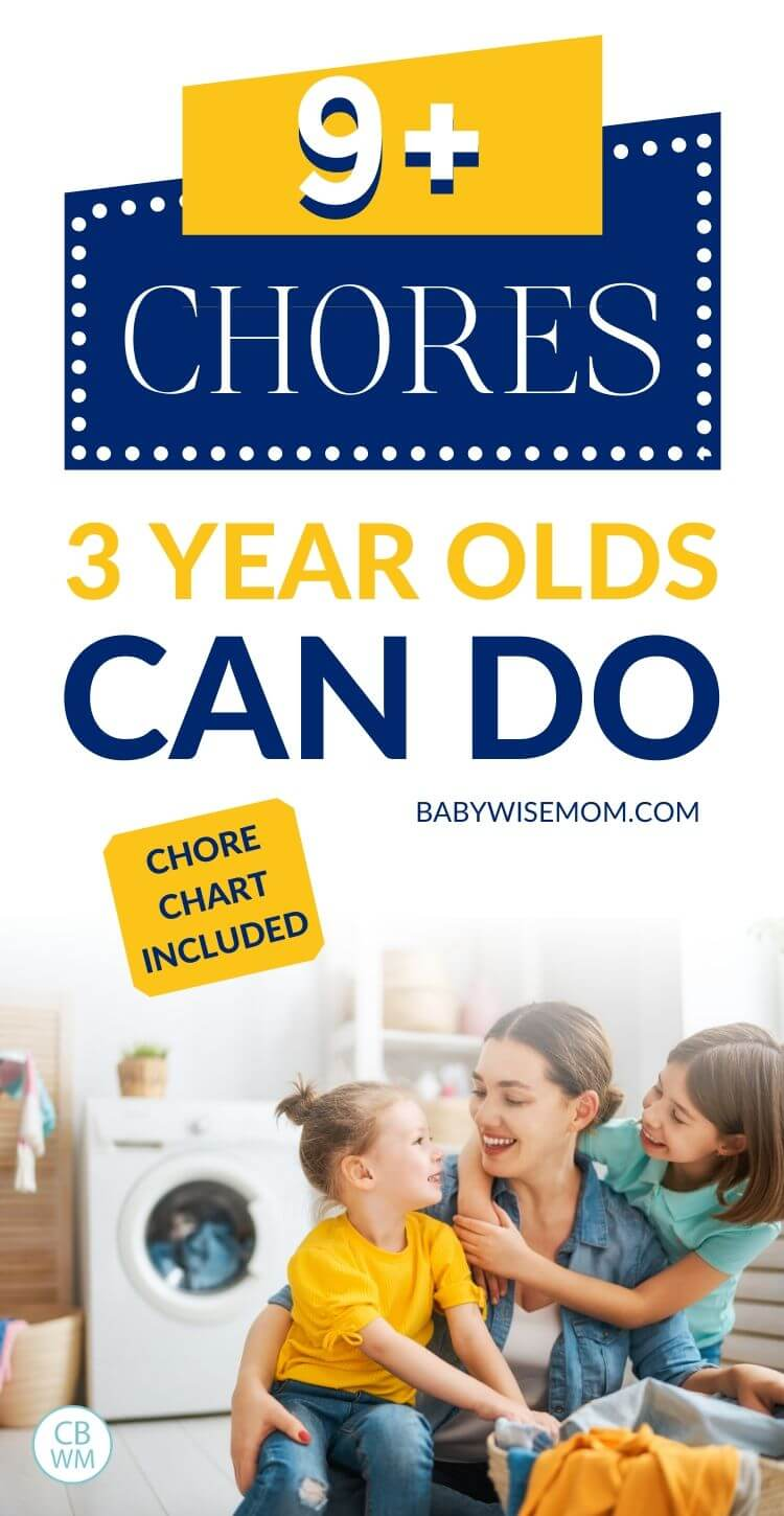 9 chores 3 year olds can do pinnable image