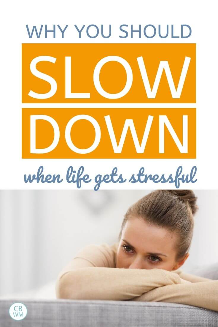 Why you should slow down when life gets stressful pinnable image