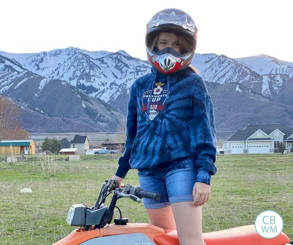 Kaitlyn on a 4-wheeler