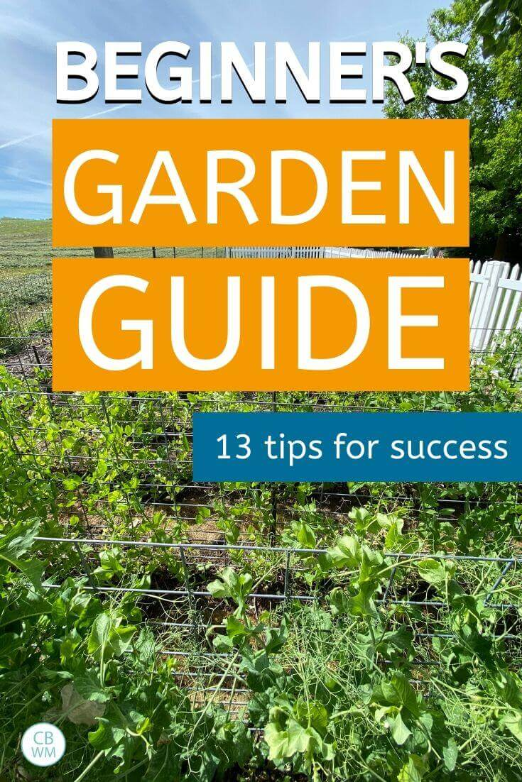 Beginner's garden guide pinnable image