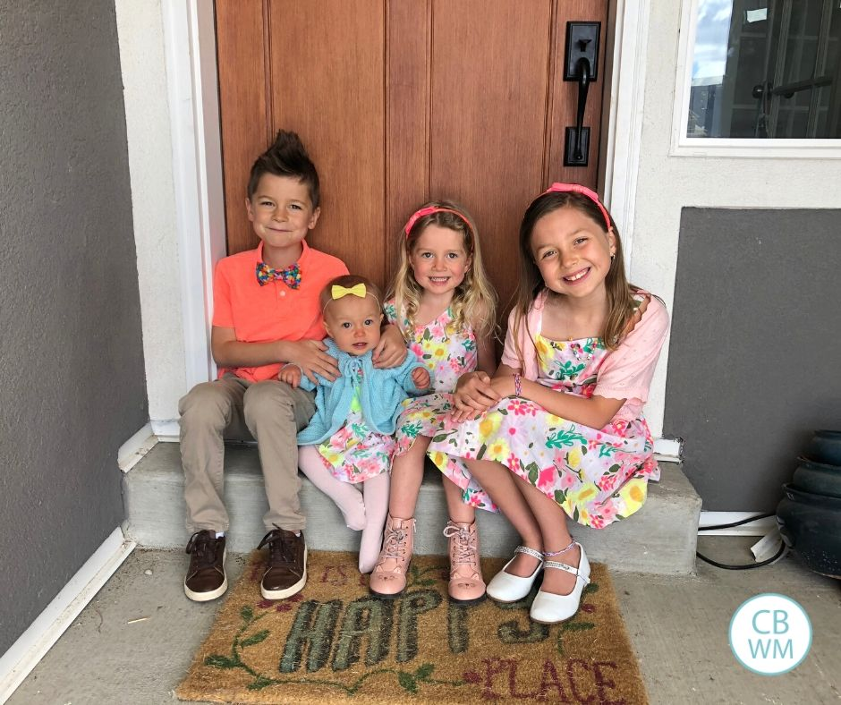 All four kids