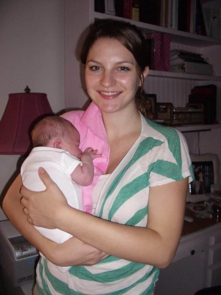 Baby Elliana, fresh from the hospital.