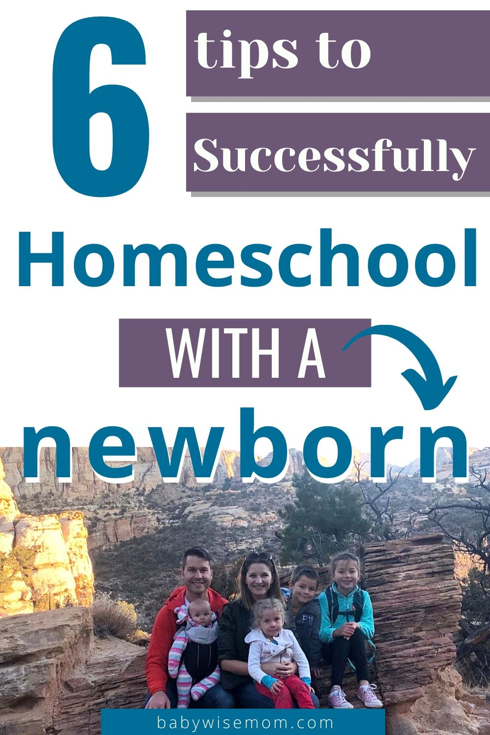 6 tips to homeschool with a newborn