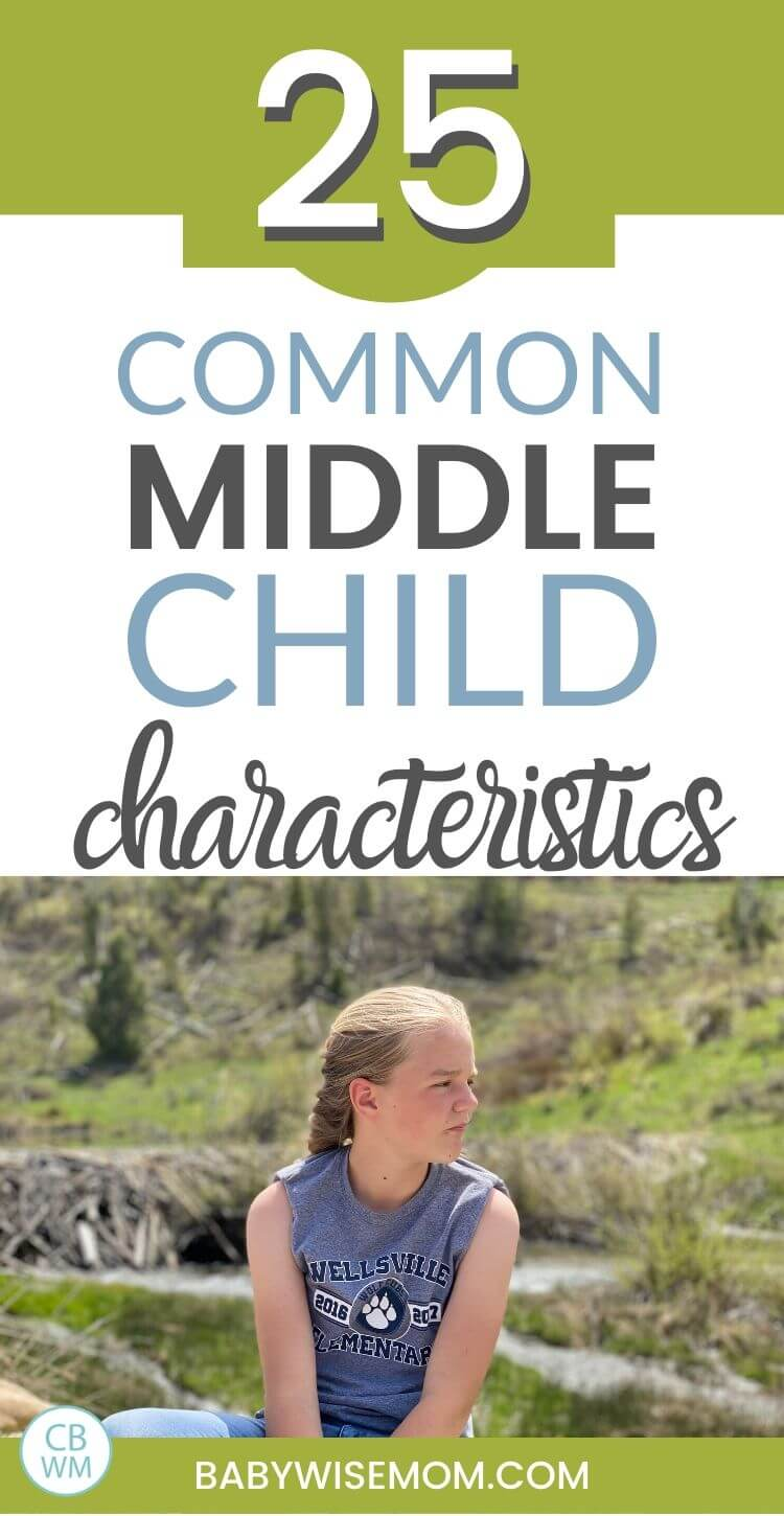 Common middle child characteristics pinnable image