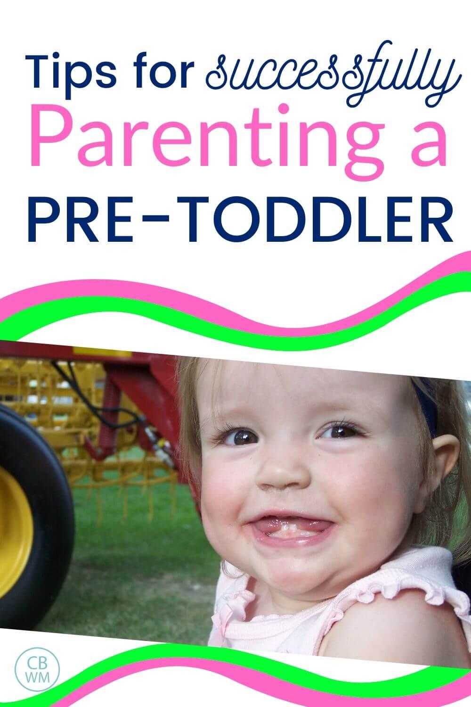 Parenting pretoddlers pinnable image