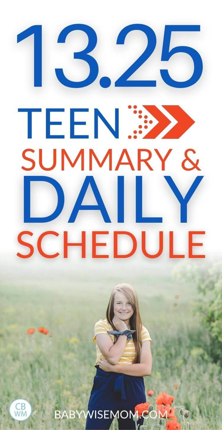 13.25 teen summary and daily schedule pinnable image