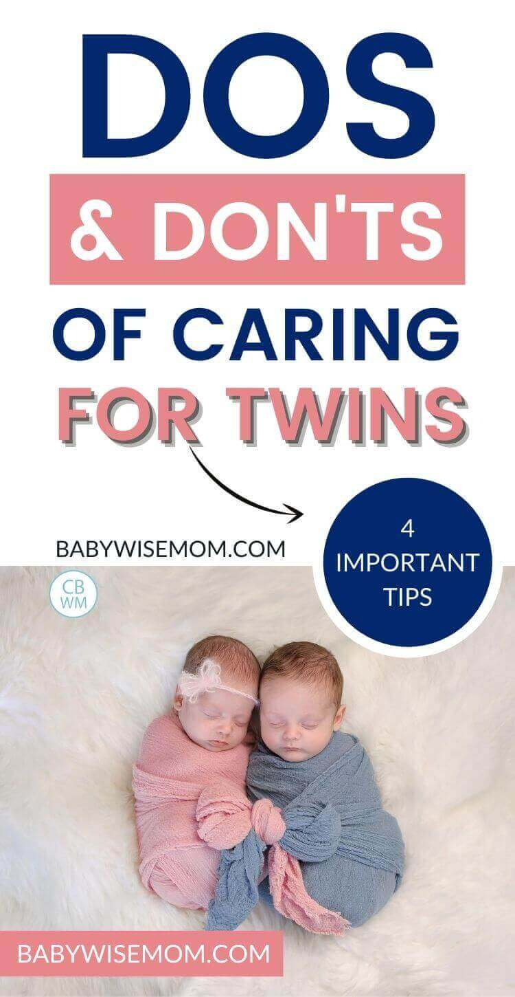 Caring for twins pinnable image
