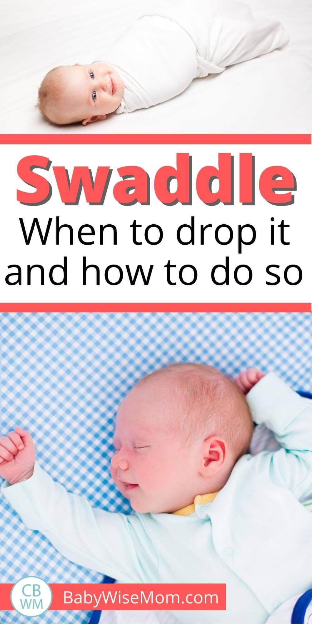 Drop baby swaddle pinnable image