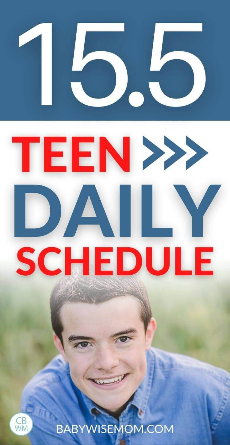 15.5 year old teen summary and schedule