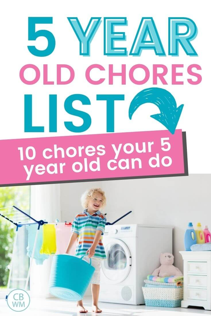 5 year old chore list
