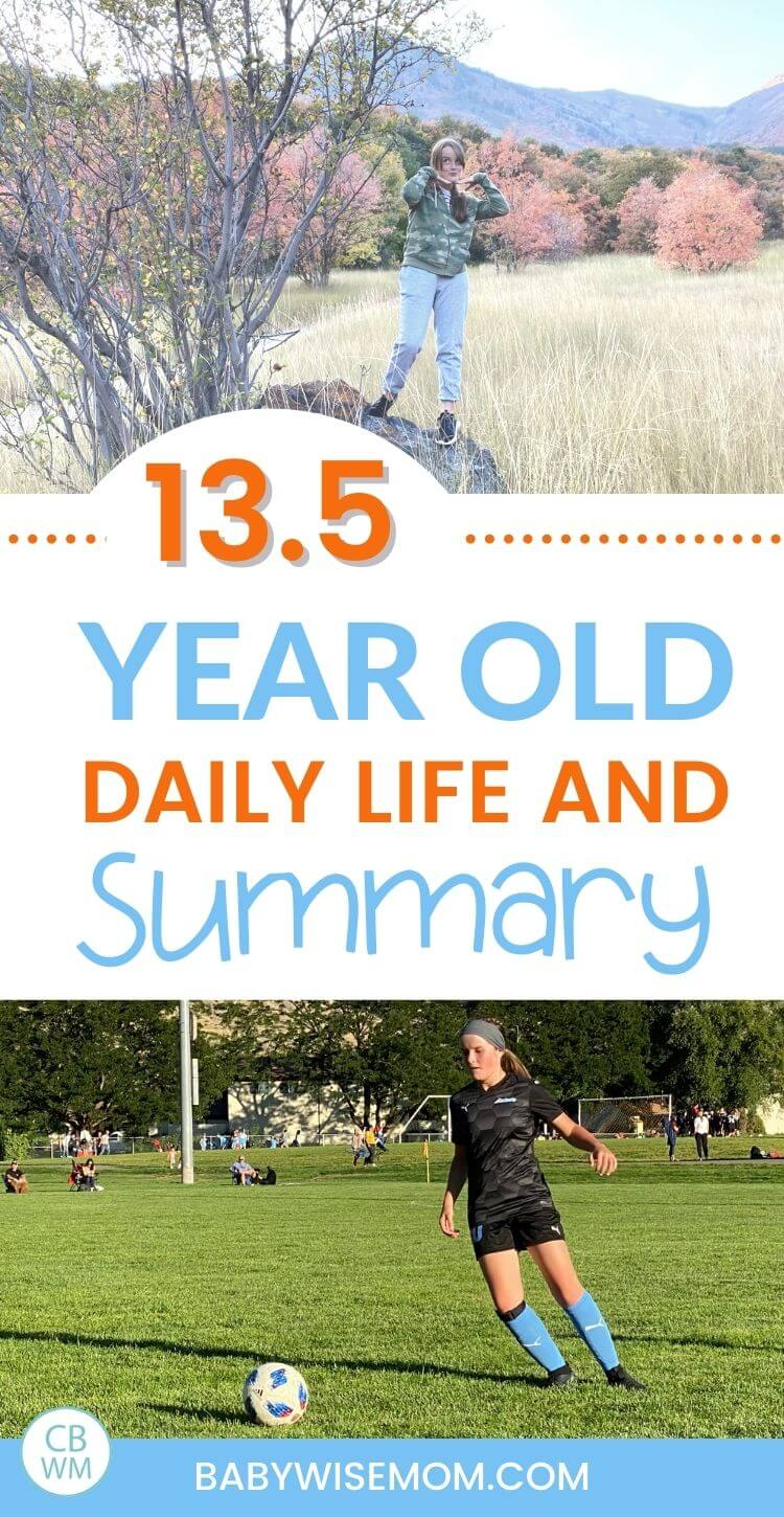 13.5 year old teen summary and schedule