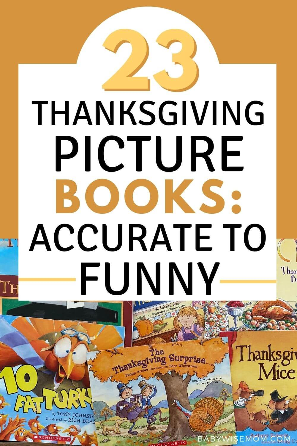23 Thanksgiving picture books pinnable image