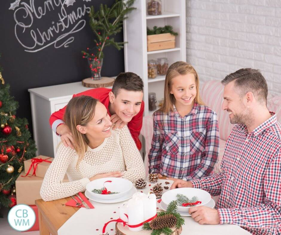 Christmas at home with family