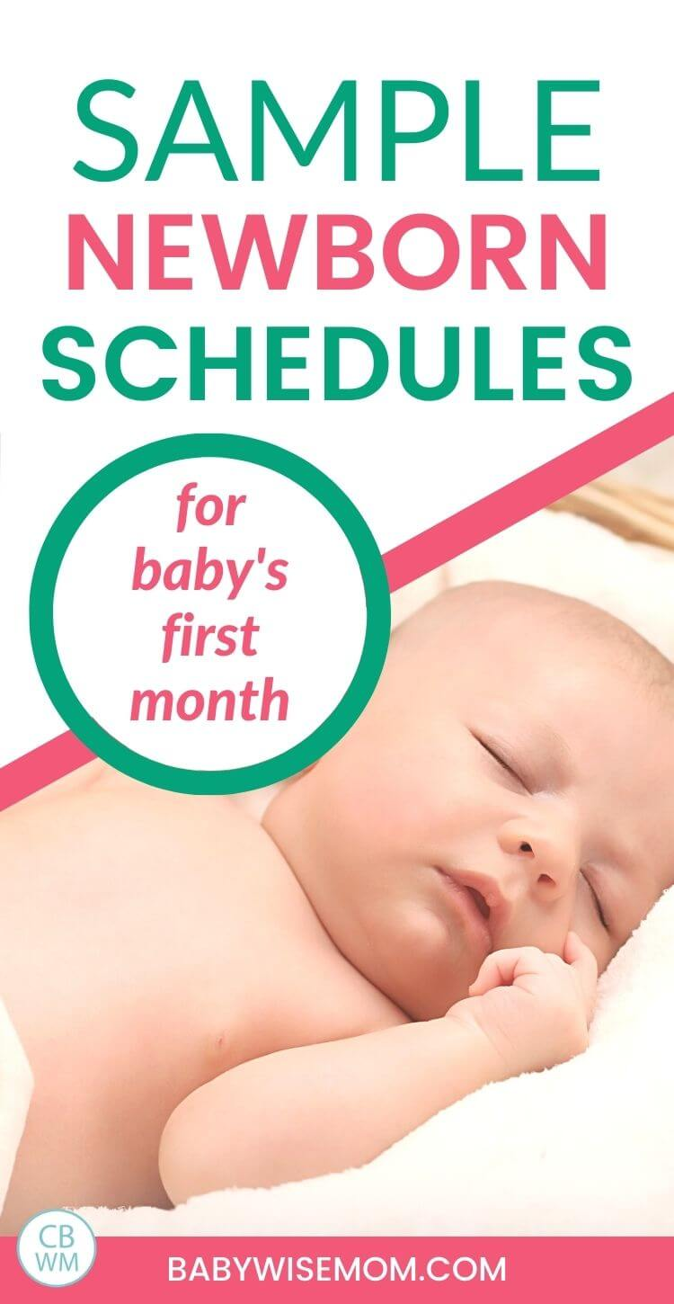 Sample newborn schedules pinnable image