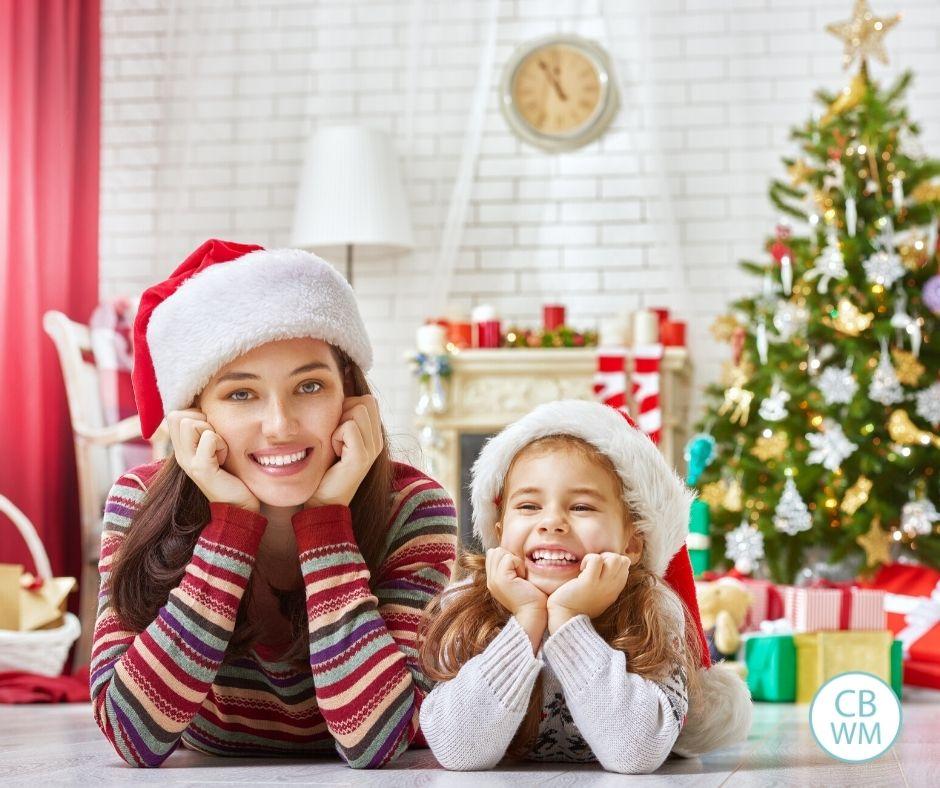 Mom and daughter at Christmas break