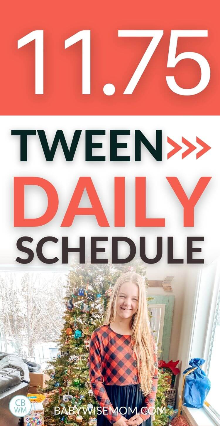 11 year old McKenna tween schedule