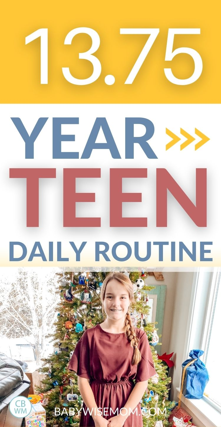13 year old teen daily routine