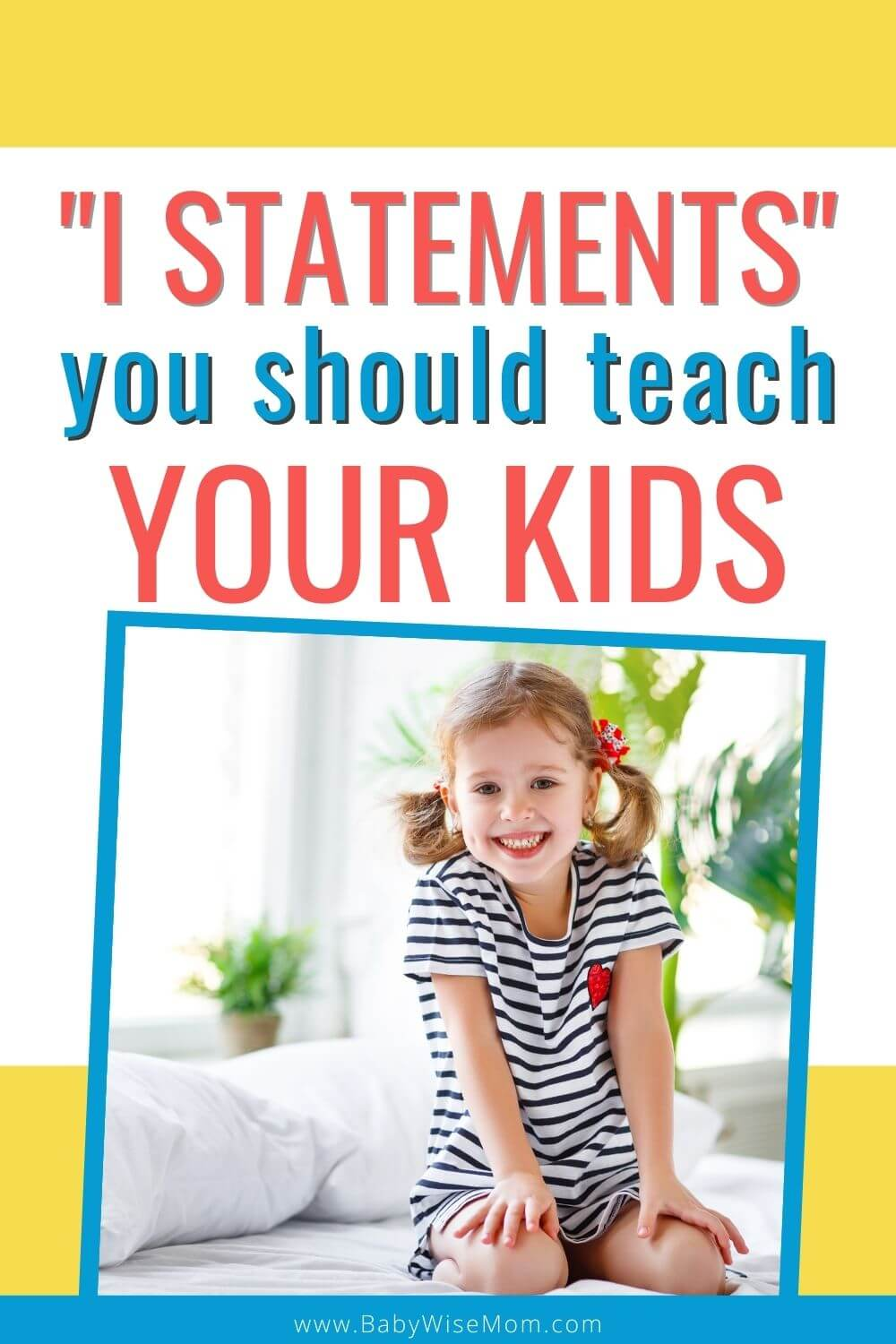 I statements you should teach your child