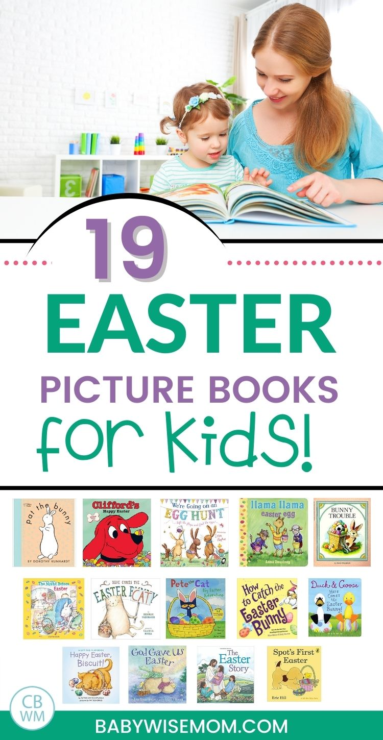 Easter Picture Books for Kids pinnable image