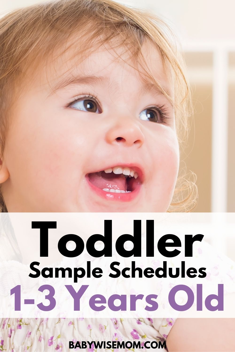 toddler sample schedules 1-3 years old
