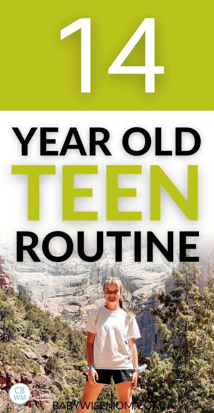14 year old teen routine