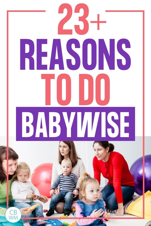 23 reasons to do Babyiwse pinnable image