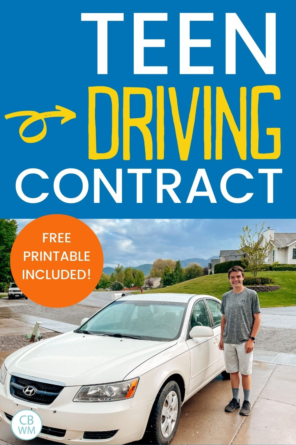Teen driving contract pinnable image