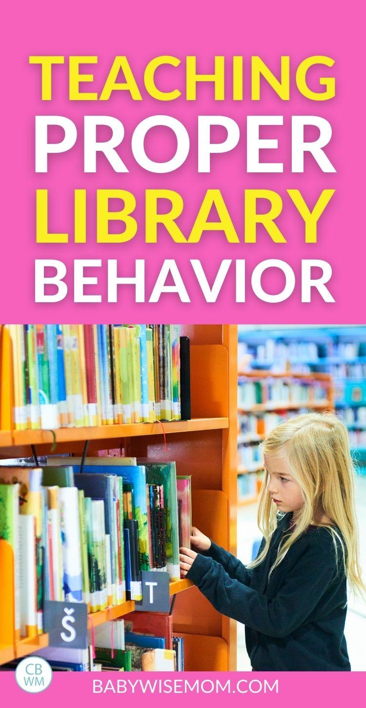 Teaching proper library behavior pinnable image