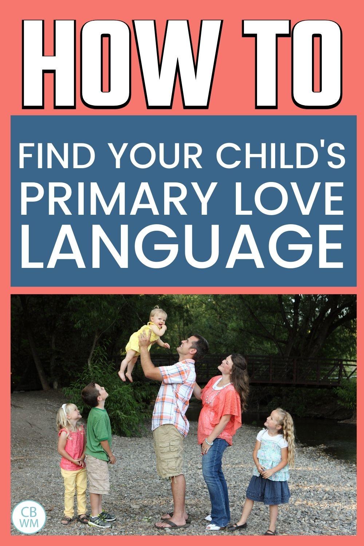 Find primary love language pinnable image